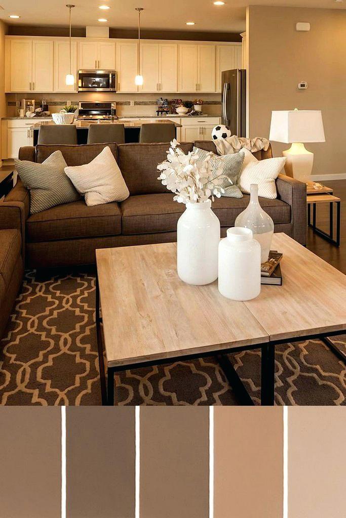 Wandfarbe Mit Brauner Couch #beige #wohnzimmer #streichen #grüne  #kombinieren #gardinen