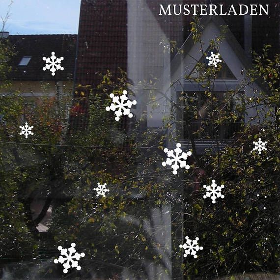 Snowflakes Christmas Window Sticker will add a festive touch to your home. The decals are easy and fun to apply. Choose your favourite colour!