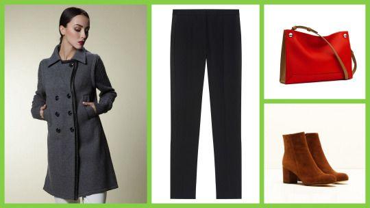 Pure Cashmere Suit Coat, Sandriver +  Stivaletto tacco medio suede booties , Michele Lopriore + Floaty Trousers In Satin-Backed Crepe,  Paule Ka +  Compass Crossbody bag, Rag & Bone #женскаямода #стиль #сочиняемнаряд #пальто #брюки #обувь #ботильоны #аксессуары #сумка #fashion #style #sandrivercashmere #coat #pauleka #trousers #pants #booties #michelelopriore #accessories #ragandbone #bag #crossbody