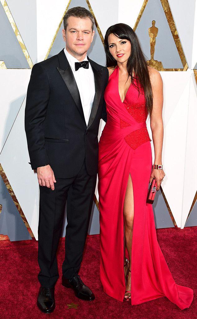 Matt Damon & Luciana Barroso from Couples at the 2016 Oscars | E! Online