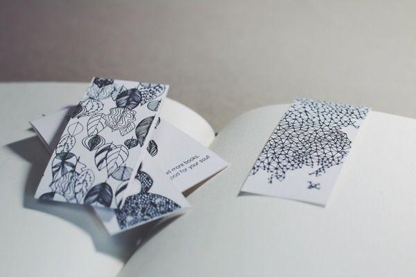 Bookmark Set by Katharina Kobsev, via Behance