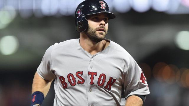 1st Baseman Mitch Moreland pitched the 9th, & impressed
