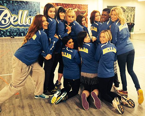Pitch Perfect 2 Cast Pic: Elizabeth Banks, Anna Kendrick Wear Jackets - IT IS HAPPENING!!