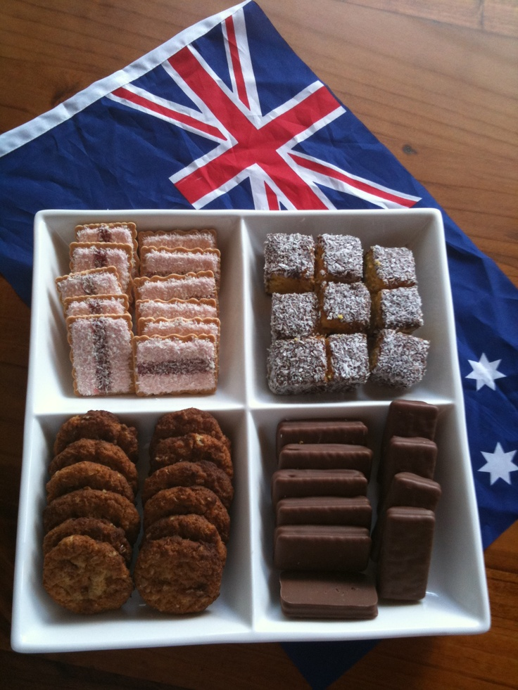 More Australia Day food - Iced Vo-Vo's, Lamingtons, Anzacs & Tim Tams! Happy Australia Day #australiaday #aussieday #australia