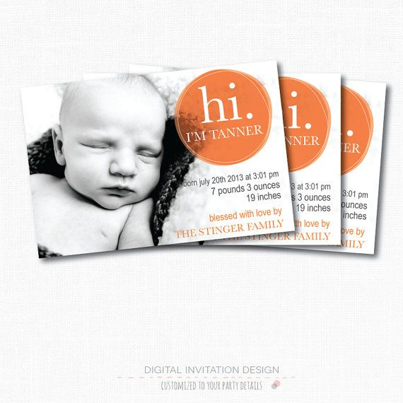 26 best Inspiration Baby Announcement images – Baby Announcement Cards Etsy