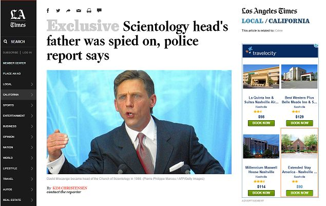 The End Of The Road For David Miscavige. By Mike Rinder via Something Can Be Done About It blog.