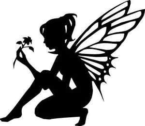 Die Cut Silhouette KNEELING FAIRY topper x 6 for cardmaking, Fairy ...