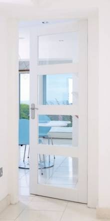 Contemporary interior doors. I will use frosted glass.