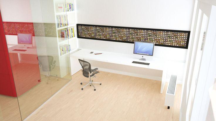 Bureau 'folded' voor een kantoor aan huis – kun je echt opvouwen!