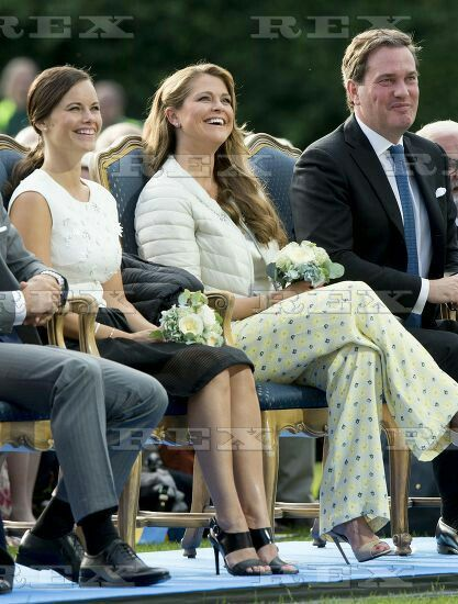 Crown Princess Victoria 38th birthday celebrations, Borgholm, Oeland, Sweden - 14 Jul 2015  Princess Sofia and Princess Madeleine 14 Jul 2015