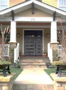 modern iron front door with sidelight | Single Door Designs - Custom Iron Doors - Doors by Design