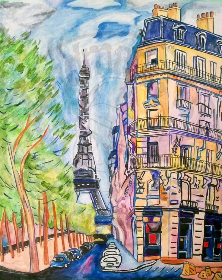Elle Fowler Paris Painting by KV-Arts.deviantart.com on @deviantART