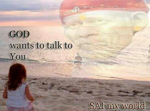 please talk to me sai baba