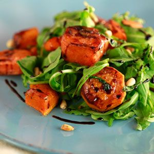 82 best thanksgiving images on pinterest thanksgiving recipes jane leeves roasted butternut squash and sweet potato with arugula and balsamic recipe forumfinder Images