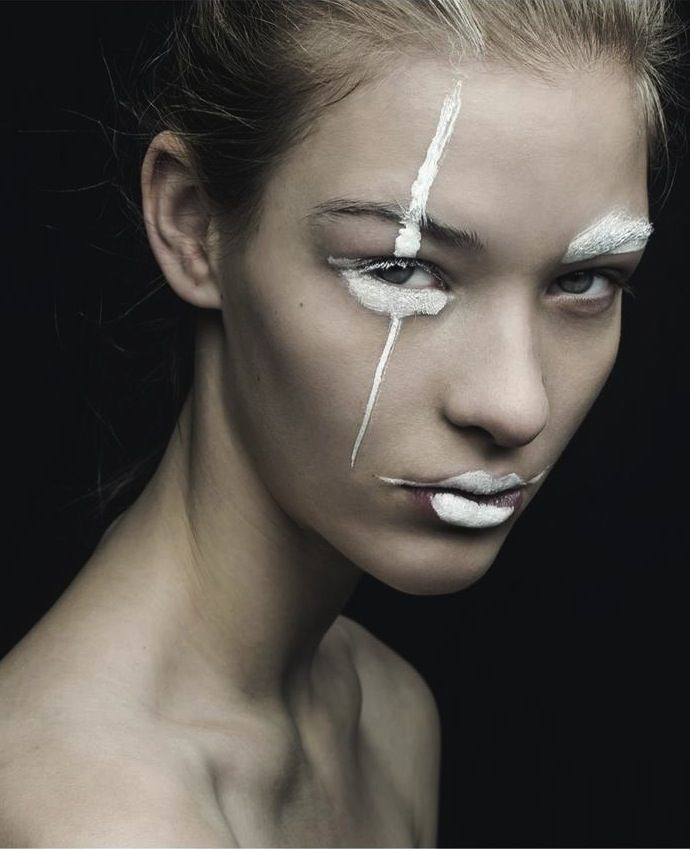 We Are Vandals In With Elena Bartels Fashion Editorial White Face Paint