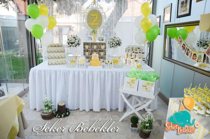 Papatya Temalı Doğum Günü Organizasyonu - Şeker Bebekler