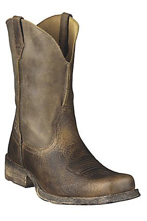 Ariat Rambler Men's Brown Bomber Wide Square Toe Western Boots