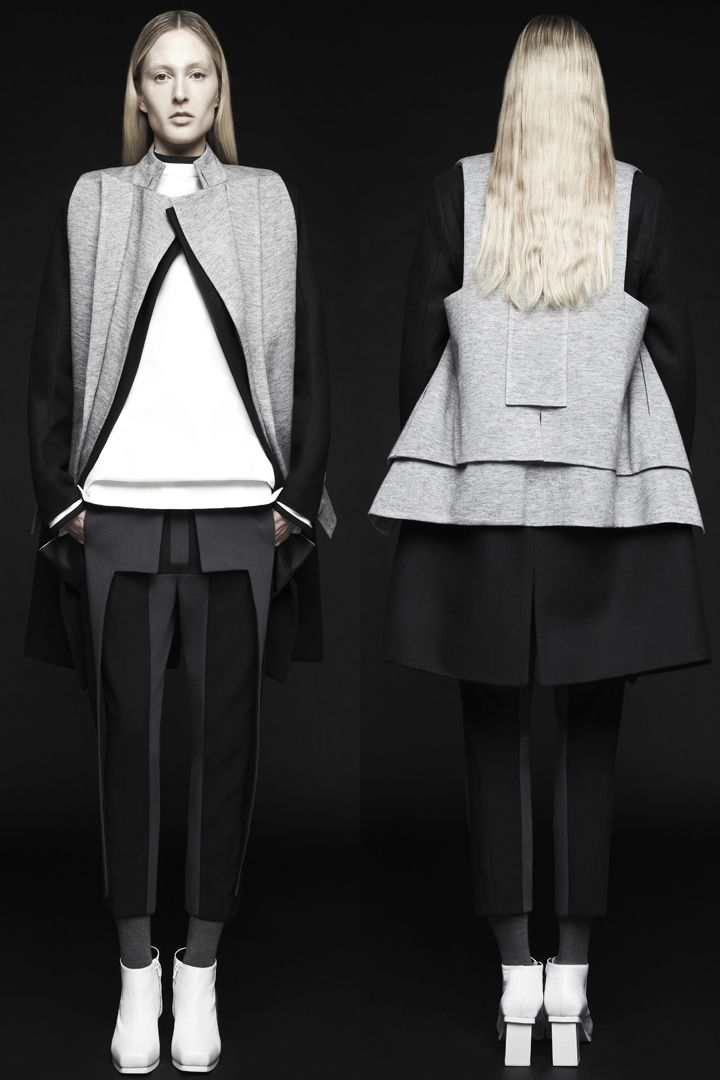 Contemporary Fashion with graphic lines; innovative pattern cutting // RAD by Rad Hourani