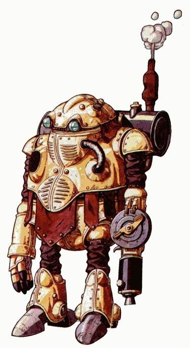Steampunk robot by Akira Toriyama. -This looks like Atropos/Robo from Chrono Trigger