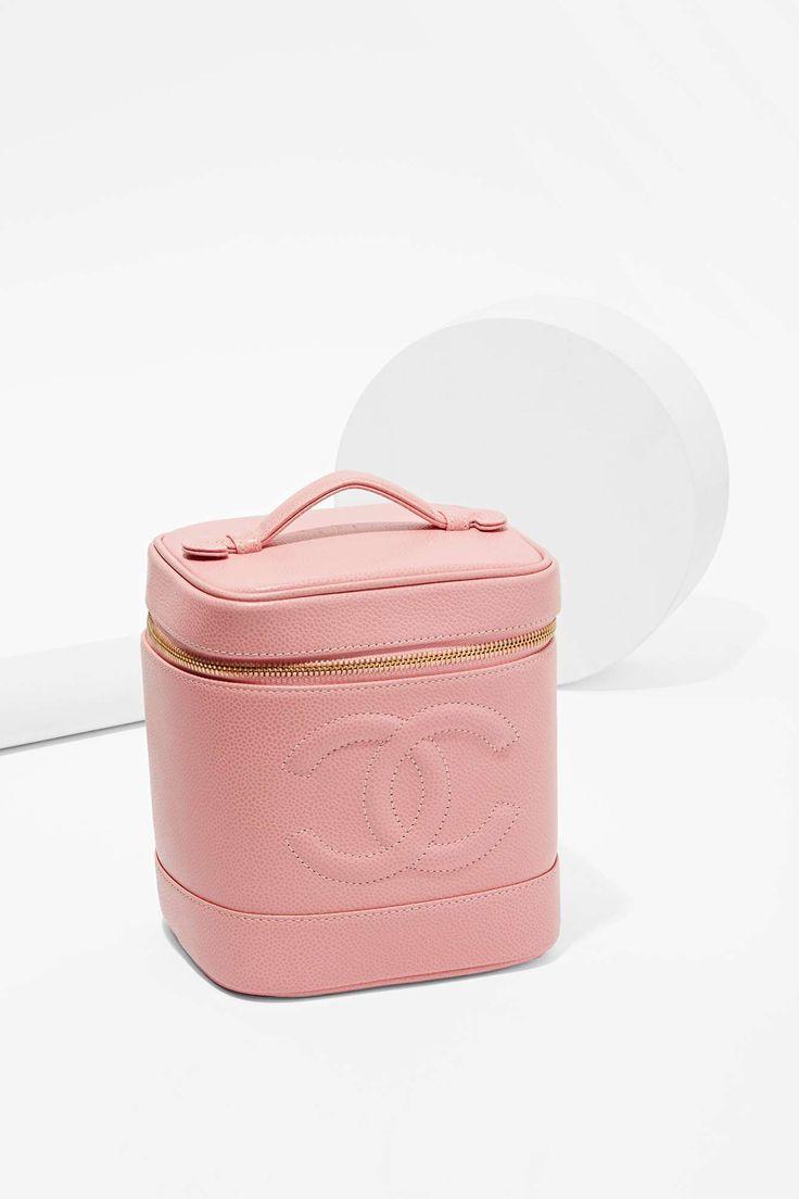 Vintage Chanel Caviar Leather Vanity Bag