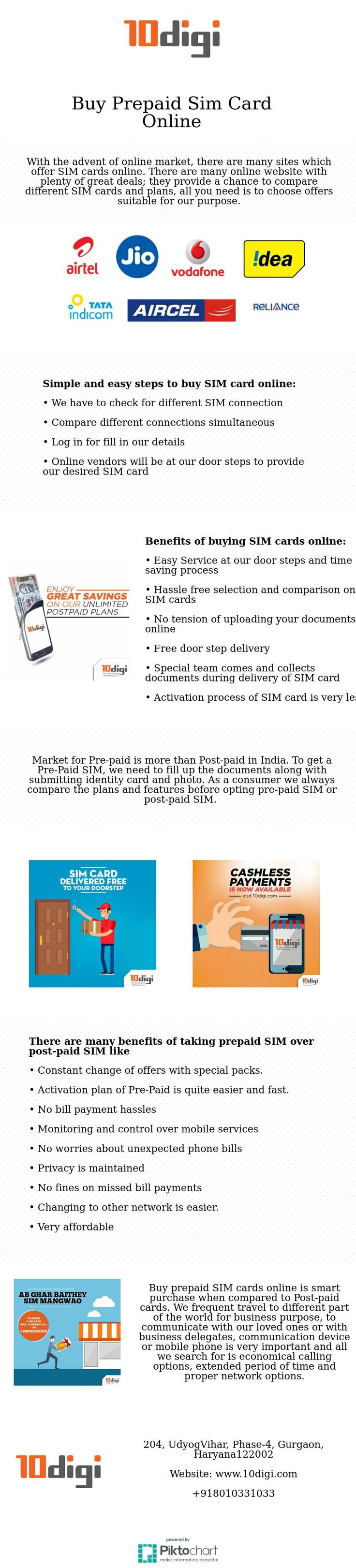 10 digi is a leading online buying website for prepaid SIM connection, buy post-paid SIM card online, data card, dongle, mobile number portability. They provide prepaid connection online, post-paid connection online with comparison and provide free door services.