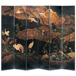 Japanese Style Folding Screen With CranesHands Painting, Asian Style, Japan Screens, Folding Screens, Interiors Design, Design Art, Japanese Style, Beautiful Things, Oriental Screens