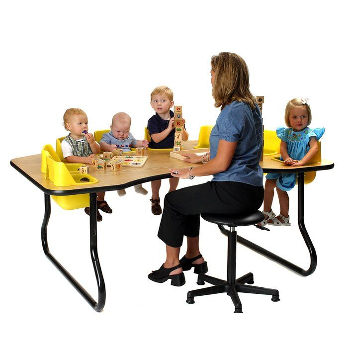 Kid S 9 Piece Adjustable Height Novelty Activity Table Chair Set Toddler Table Table Activities For Toddlers Feeding Toddlers Preschool table and chairs set
