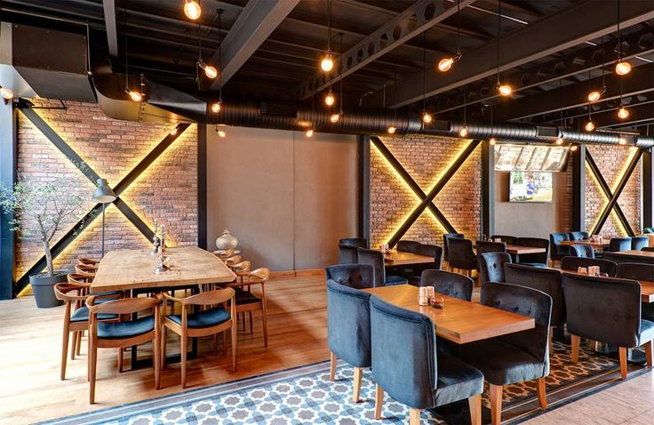 Cottage Red brick slips used to great effect in this cafe