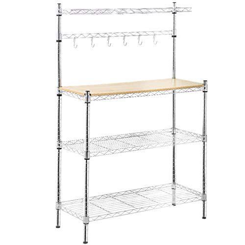 Metal Baker S Rack Organizerstand Shelf Kitchen M Icrowave Cart Storage Countertop Dorm Microwave Stand Kitchen