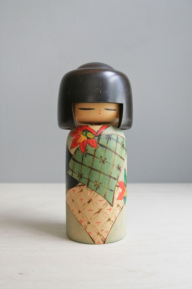 japanese kokeshi girl. $38.00, via Etsy.