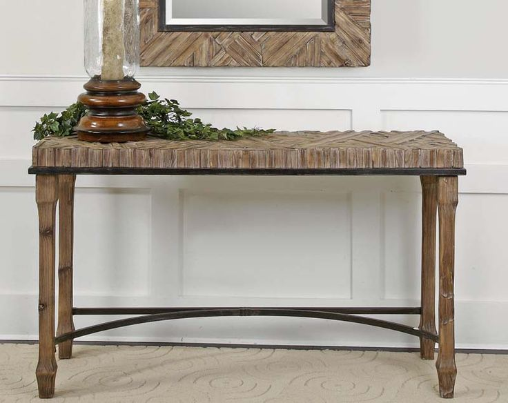 Weathered Wood Console Table Western Sofa Tables   Weathered, Sanded And  Lightly Burnished Natural Fir