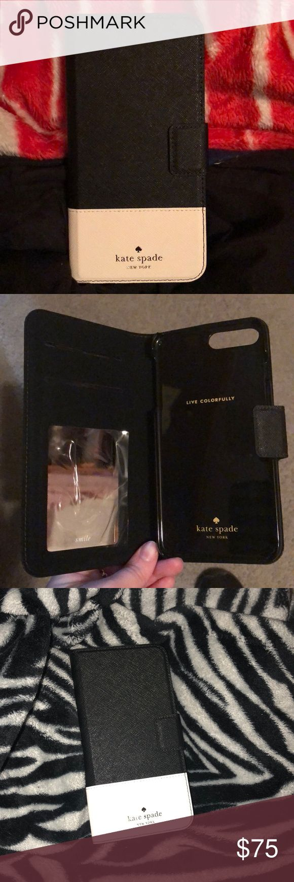Kate Spade folio iphone plus case 7s/8s NEW. I opened it; but never used it. kate spade Other
