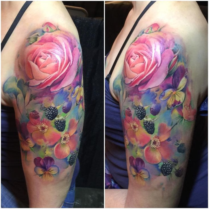 Floral tattoo, Sam Ford See this Instagram photo by @sam_ford_tattoos • 950 likes