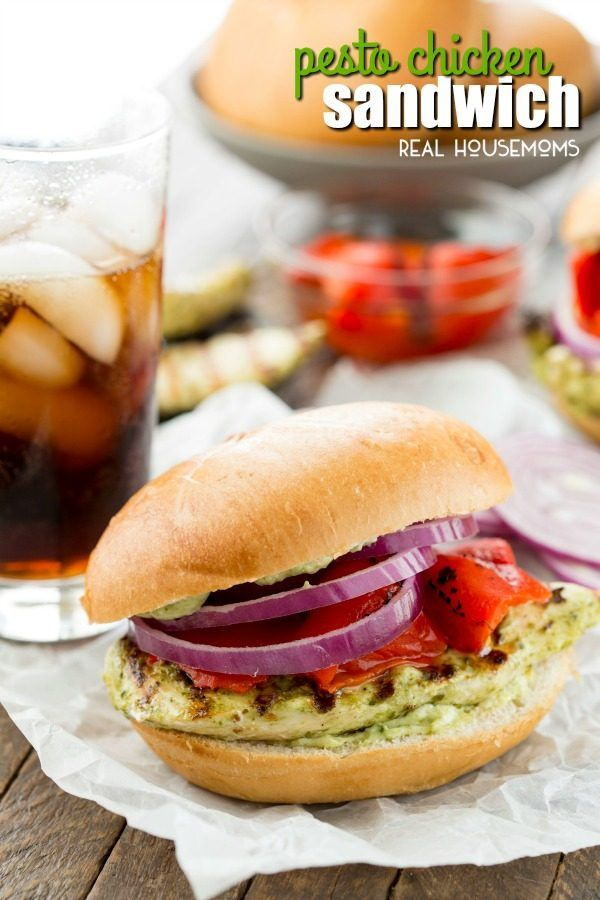 Grilled Pesto Chicken Sandwich