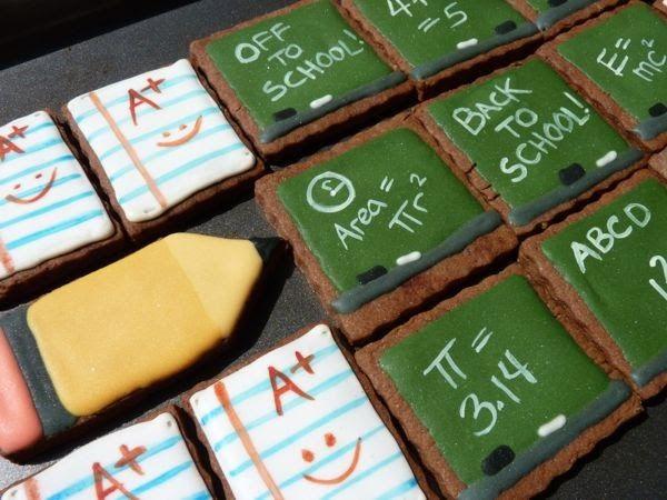 Back To School Chalkboard Cookies