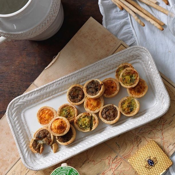With a traditional basketweave border, our Le Panier hostess tray is equally handsome and versatile. Perfect for housing spectacles on a desktop or serving delicious homemade quiches, straight from the oven to your table. #lepanier #juliska