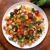 Panzanella Salad with Shredded Chicken Recipe