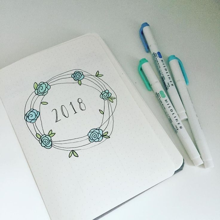 Not long to go... Ive set up a few pages ready for the start of a new year. . . . #bulletjournal #bujojunkies #baronfig #bulletjournalyearly #hello2018 #newyear #newyearseve #mildliner #love #blue