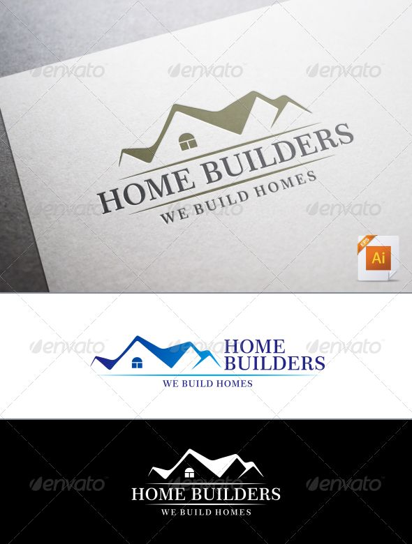 Home Builders Logo   Buildings Logo Templates