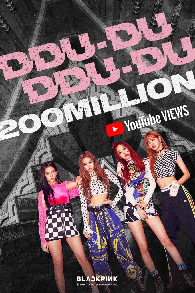 Official 180719 Blackpink Ddu Du Ddu Du Mv Hits 200 Million