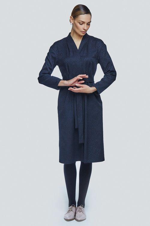 Lesel - Платье со складками прямое жаккард