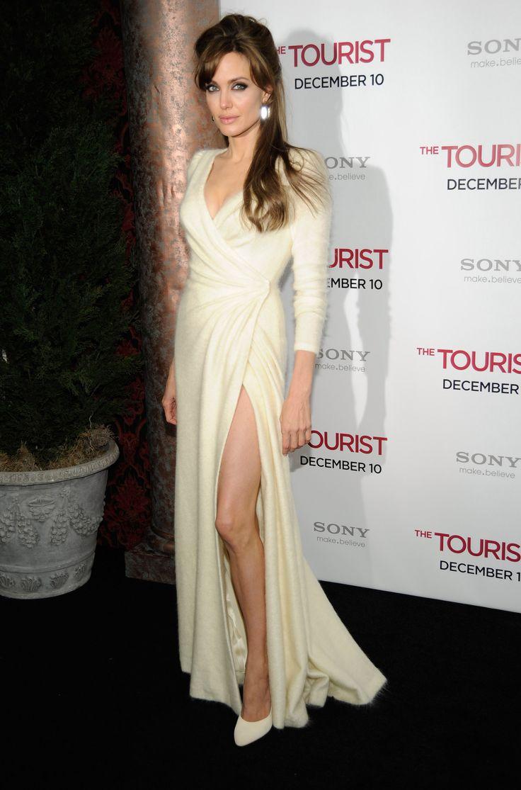 Angelina Jolie Wears Cozy Winter White Angora Alongside Brad Pitt and Johnny Depp at The Tourist NYC Premiere!