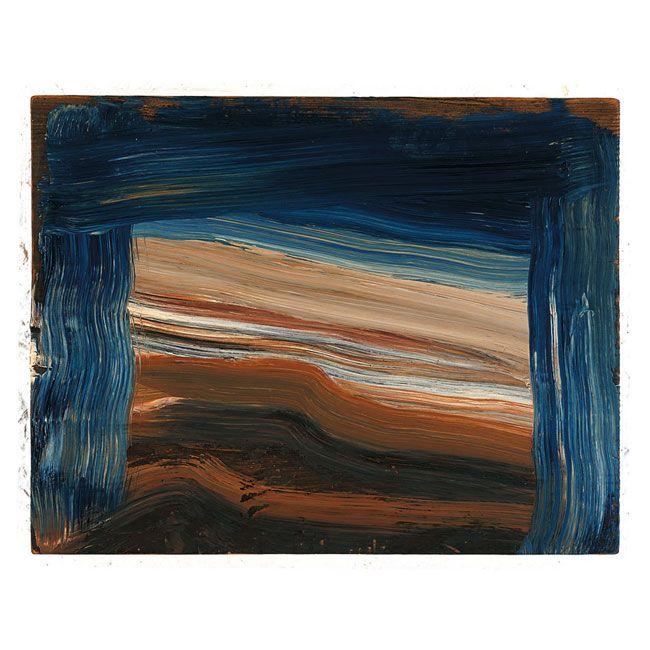 "Howard Hodgkin  Low Tide  2002  16 ¾ x 21 ⅝"", 42.5 x 54.9cm  Painting  PA388  Oil on wood"