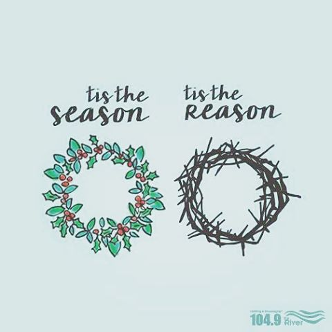 'Tis the season... 'Tis the reason | Wreath | Christmas Image | iPhone Christmas Wallpaper | Catholic Images