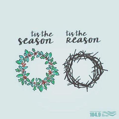 'Tis the season... 'Tis the reason   Wreath   Christmas Image   iPhone Christmas Wallpaper   Catholic Images