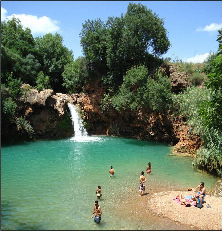 The waterfall Pego do Inverno near Tavira