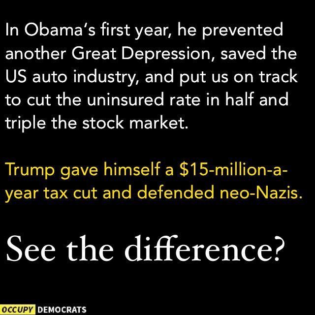 See the difference...Loud & clear...he will never ever be as great as President Obama!!!