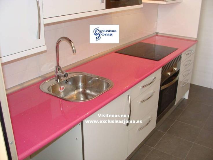 Muebles de cocina a medida en color blanco alto brillo con for Muebles de cocina df