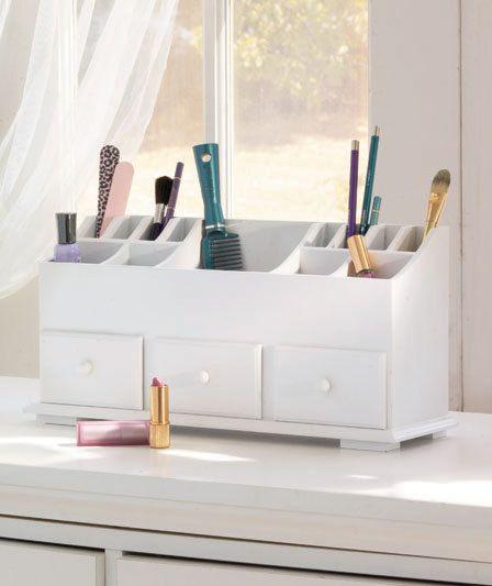 3 drawer organizer dresser makeup hair storage bedroom for Makeup dresser drawers