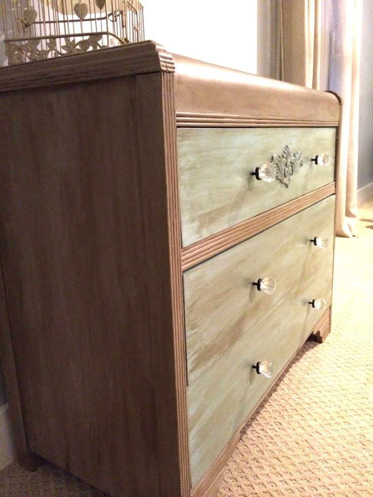 Vintage Refined Waterfall Dresser Makeover Waterfall